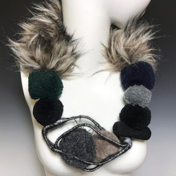 "Ports 1961 Jewelry - Ports 1961 Luke Tanabe Fur 26"" Runway Necklace"